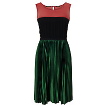 Buy Maison Scotch Pleated Cocktail Dress, Multi Online at johnlewis.com