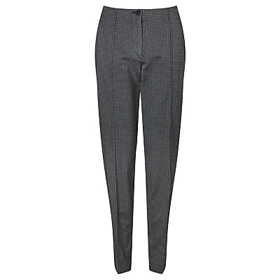 Gardeur Zene Slim Fit Jacquard Trousers, Black/Silver