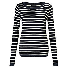 Buy Maison Scotch Stripe Wool-Blend Jumper, Navy/White Online at johnlewis.com