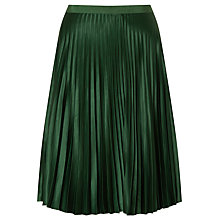 Buy Maison Scotch Pleated Skirt, Green Online at johnlewis.com