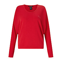 Buy Maison Scotch Amour Sweatshirt, Candy Red Online at johnlewis.com