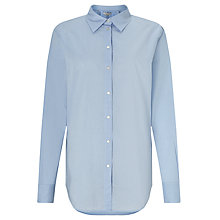 Buy Maison Scotch Long Line Shirt, Blue Online at johnlewis.com