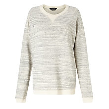Buy Maison Scotch Melange Sweatshirt, Grey Melange Online at johnlewis.com
