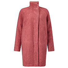 Buy Samsoe & Samsoe Hoff Oversized Wool-Blend Coat, Canyon Rose Melange Online at johnlewis.com