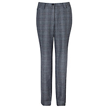 Buy Gardeur Kayla Check Trousers, Blue Online at johnlewis.com