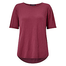 Buy Maison Scotch Mixed Fabric T-Shirt, Fig Online at johnlewis.com