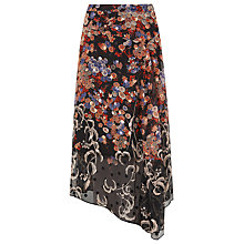 Buy L.K. Bennett Silk Camille Bamboo Skirt, Multi Online at johnlewis.com