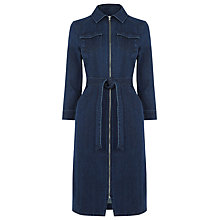 Buy Warehouse Zip Dress, Mid Wash Denim Online at johnlewis.com