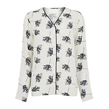 Buy Warehouse Stencil Floral Blouse, Cream Online at johnlewis.com