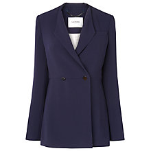 Buy L.K. Bennett Anthea Crepe Jacket, Sloane Blue Online at johnlewis.com