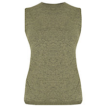 Buy Warehouse Sleeveless Tank Top, Light Green Online at johnlewis.com
