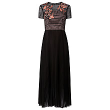 Buy L.K. Bennett Efina Embroidered Dress, Black Online at johnlewis.com
