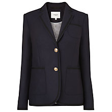 Buy L.K. Bennett Louise Flannel Blazer, Sloane Blue Online at johnlewis.com