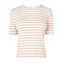 Buy L.K. Bennett Daphne Stripe Ribbed Top, Multi Online at johnlewis.com