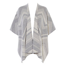 Buy Karen Millen Ultimate Knit Cape, Grey/Multi Online at johnlewis.com