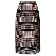 Buy L.K. Bennett Maddox Lace Skirt, Black Online at johnlewis.com