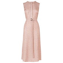 Buy L.K. Bennett Silk Lois Printed Dress, Mink Pink Online at johnlewis.com