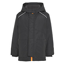 Buy John Lewis Boys' Contrast School Coat, Charcoal Online at johnlewis.com