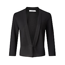 Buy John Lewis Knit And Chiffon Cardigan, Black Online at johnlewis.com