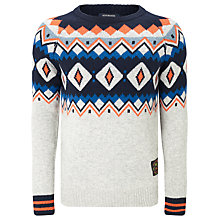 Buy Scotch & Soda Fair Isle Crew Neck Jumper, Multi Online at johnlewis.com