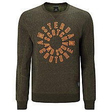 Buy Scotch & Soda Branded Crew Neck Jumper, Army Melange Online at johnlewis.com