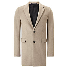 Buy Scotch & Soda Classic Long Wool Coat, Sand Melange Online at johnlewis.com