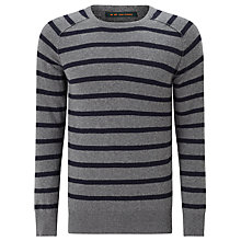 Buy Scotch & Soda Classic Merino Crew Neck Jumper, Grey Online at johnlewis.com