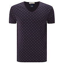 Buy Scotch & Soda Classic V Neck T-shirt, Navy/Purple Online at johnlewis.com