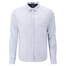 Buy Scotch & Soda Poplin Contrast Cuff Shirt, Blue Online at johnlewis.com