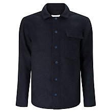 Buy Libertine-Libertine Pinnacle Boucle Overshirt Jacket, Black/Asphalt Online at johnlewis.com