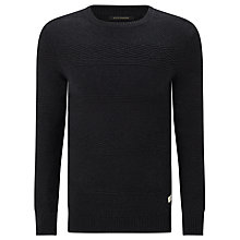 Buy Scotch & Soda Crew Neck Jumper, Graphite Melange Online at johnlewis.com