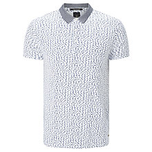 Buy Scotch & Soda Classic Contrast Polo Shirt, White/Blue Online at johnlewis.com