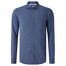 Buy Scotch & Soda Grindle Yarn Shirt, Mid Blue Online at johnlewis.com
