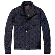 Buy Scotch & Soda Light Padded Quilted Jacket, Navy Online at johnlewis.com