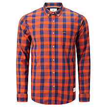 Buy Scotch & Soda Brushed Shirt, Orange Check Online at johnlewis.com