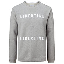 Buy Libertine-Libertine Alka East Logo Sweater, Grey Online at johnlewis.com