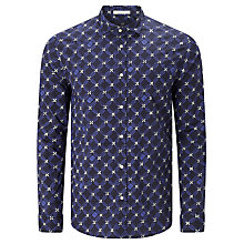 Buy Scotch & Soda Long Sleeve Classic Shirt, Blue Print Online at johnlewis.com