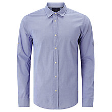 Buy Scotch & Soda Contrast Collar Shirt, Blue/Purple Online at johnlewis.com