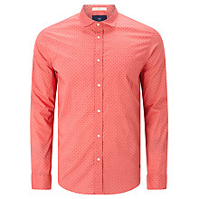 Buy Scotch & Soda Long Sleeve Classic Shirt, Coral Print Online at johnlewis.com