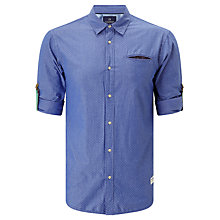 Buy Scotch & Soda Roll Sleeve Fixed Pochet Shirt, Blue Online at johnlewis.com