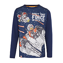 Buy LEGO Star Wars Boys' Long Sleeve T-Shirt, Navy Online at johnlewis.com