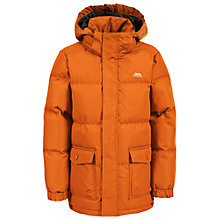 Buy Trespass Boys' Marcel Padded Puffer Jacket, Carrot Online at johnlewis.com