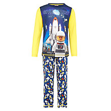 Buy LEGO Boys' Space Cadet Pyjamas, Navy/Yellow Online at johnlewis.com