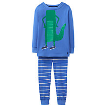 Buy Little Joule Children's Junior Kipwell Crocodile Pyjamas, Blue Online at johnlewis.com