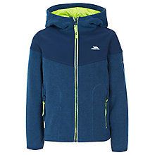 Buy Trespass Boys' Bieber Full Zip Fleece Hoodie, Navy Online at johnlewis.com