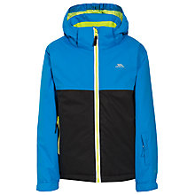 Buy Trespass Children's Quentin Jacket, Black/Blue Online at johnlewis.com