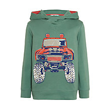 Buy John Lewis Boys' Graphic Truck Print Hoodie, Green Online at johnlewis.com