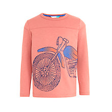 Buy John Lewis Boys' Long Sleeve Motorbike T-Shirt, Red Online at johnlewis.com
