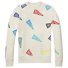Buy Tommy Hilfiger Boys' Reversible Printed Jersey Sweatshirt, Heather Grey Online at johnlewis.com