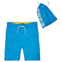 Buy Tommy Hilfiger Boys' Solid Swim Shorts, Blue Online at johnlewis.com